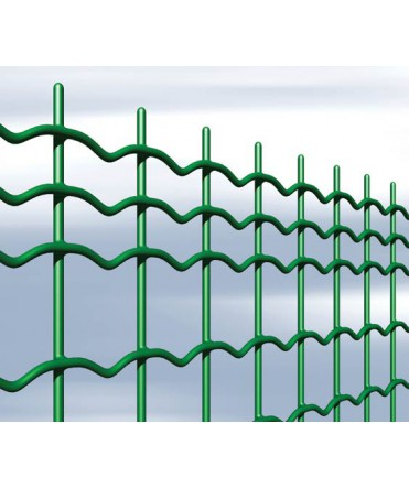 Grillage soudé plastifié vert (STI) - 50 x 50 mm